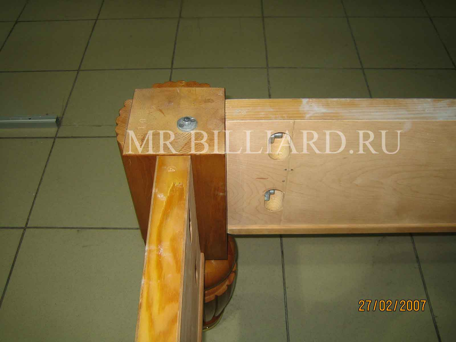 схема бильярдного стола и размеры